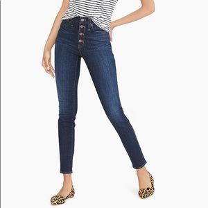 Jcrew skinny highwaisted button up jeans